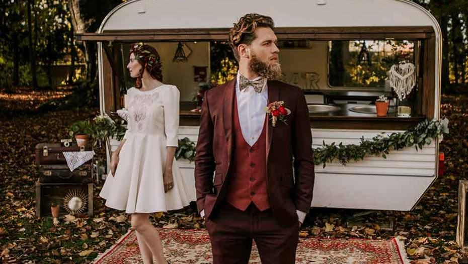 Blandin & Delloye - Costume lie de vin - charles-henri terriere