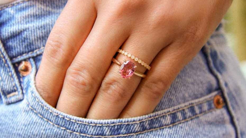 bague-ispahane-or-rose-18-carats-et-tourmaline-rose-joaillerie-manal-paris - Bruno Haddad